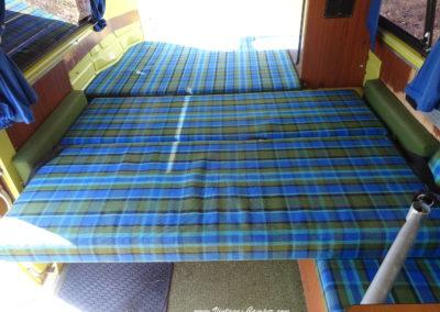 lit du bas avec 2 couchages adultes