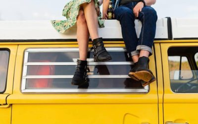 Mariage toulousain en combi volkswagen vintage