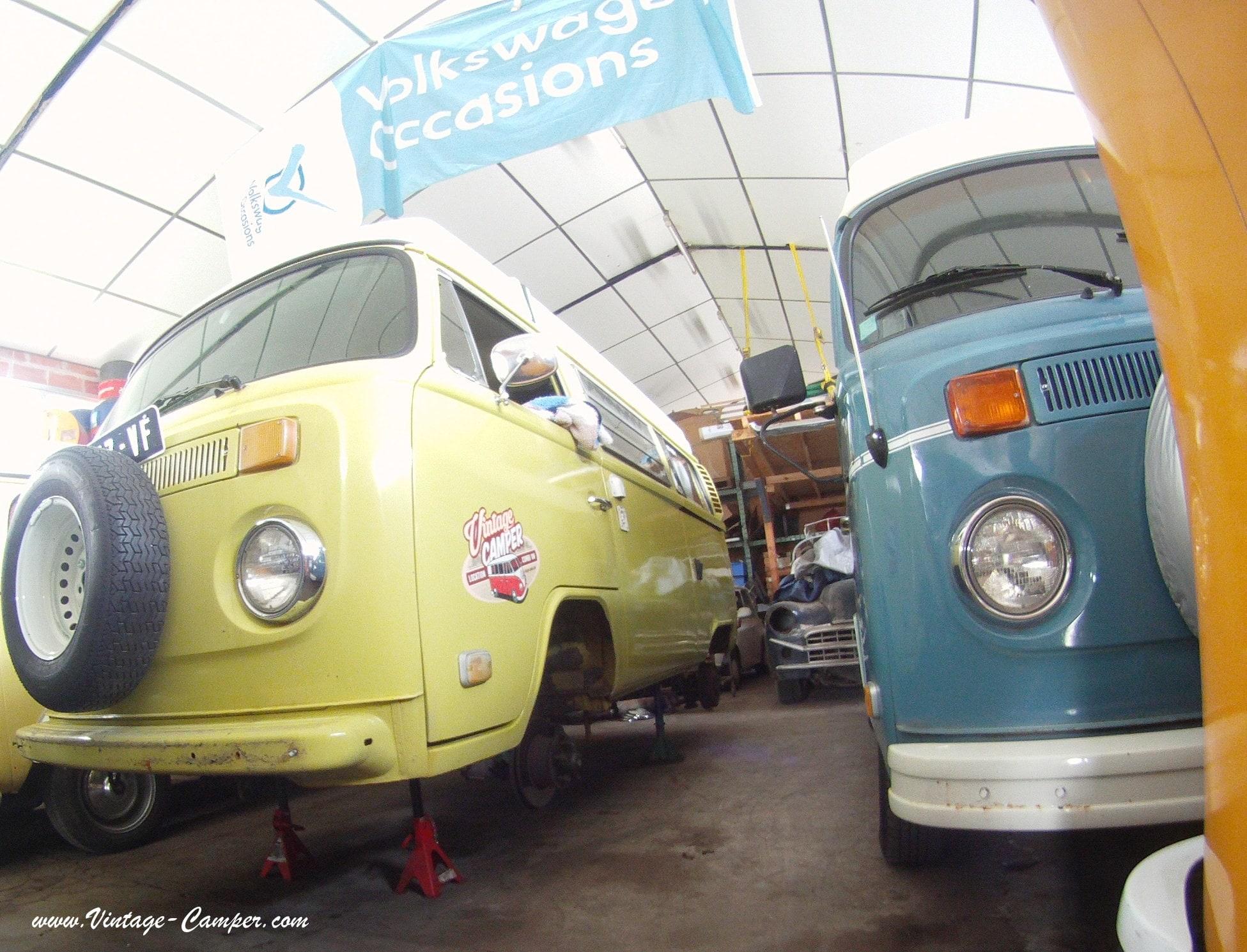 Peinture blanc l90d combi vw vintage camper for Garage volkswagen lyon