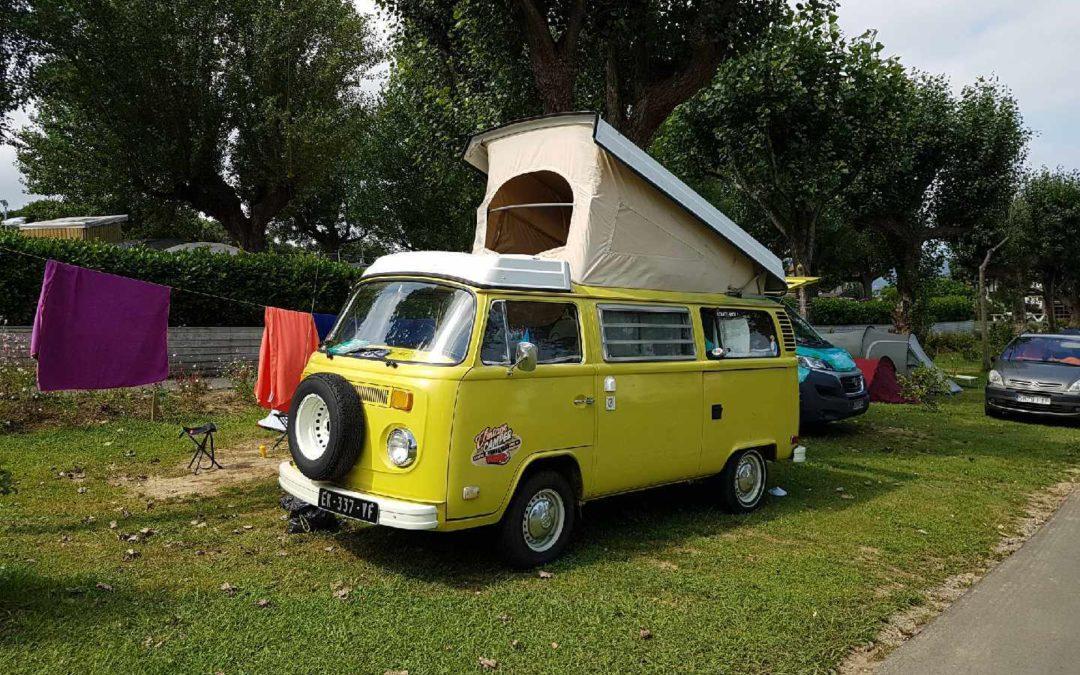 combi van au camping Hendaye