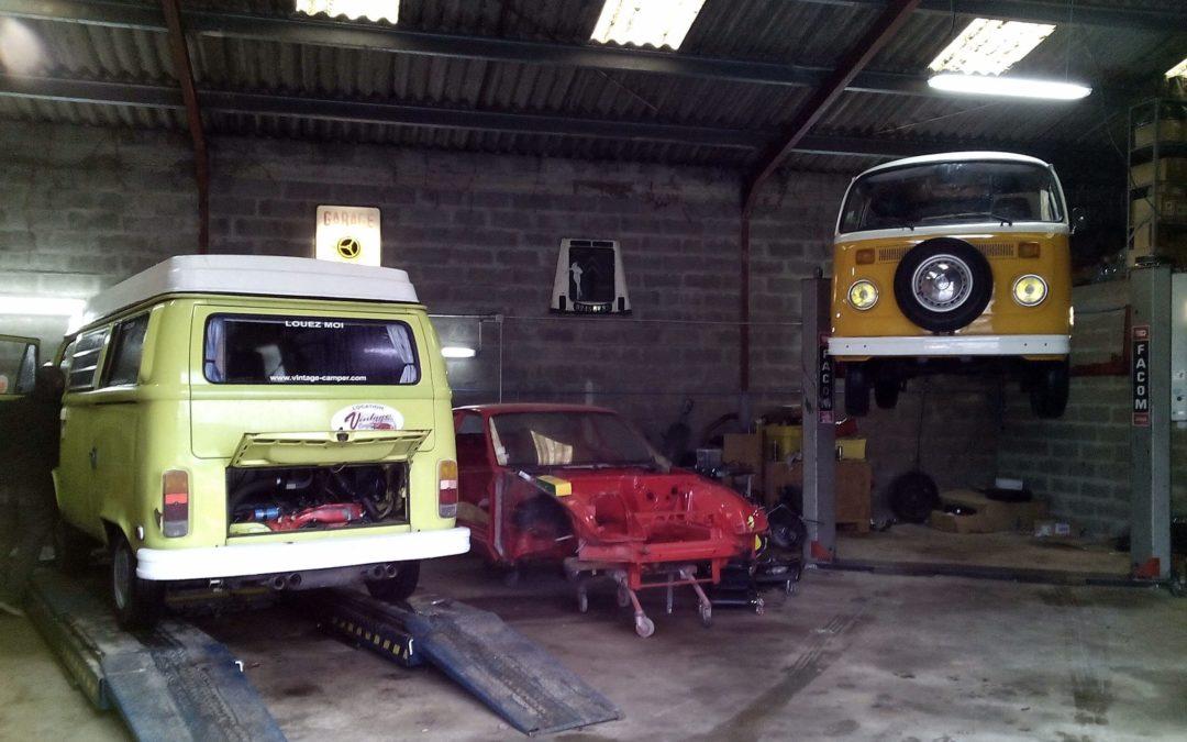 Garage et entretien de combi volkswagen