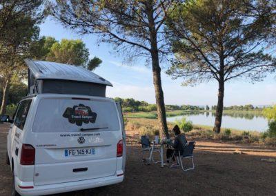 camping au bord du lac aquitaine