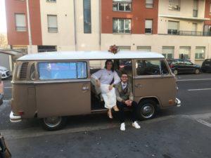 Mariage champêtre à Lyon en combi vw