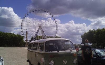 Traversée de Bordeaux aout 2020 en combi VW