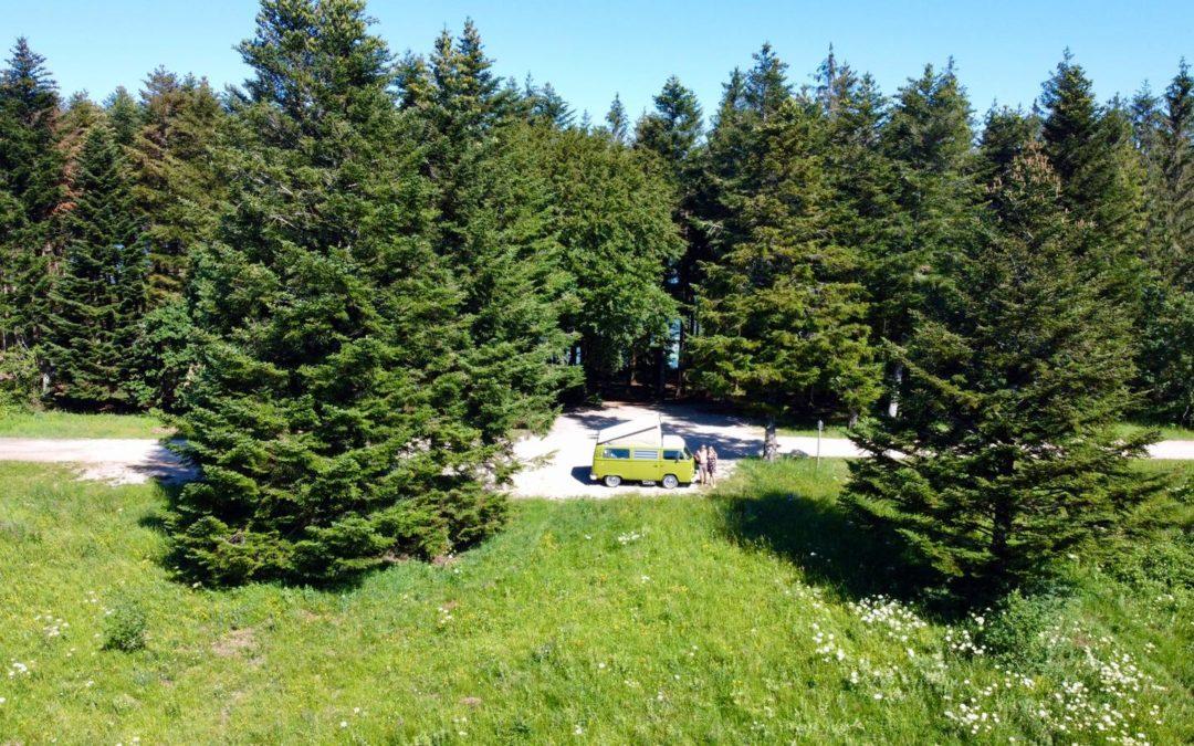 Road trip en amoureux – Vintage Camper Jura