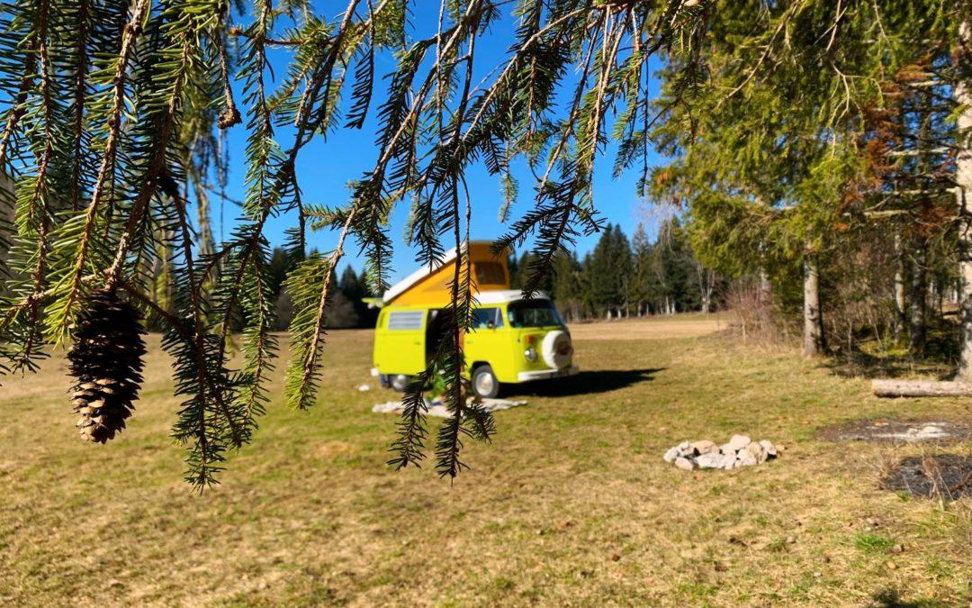 Année 2021, liberté et tranquillité – Vintage Camper Jura