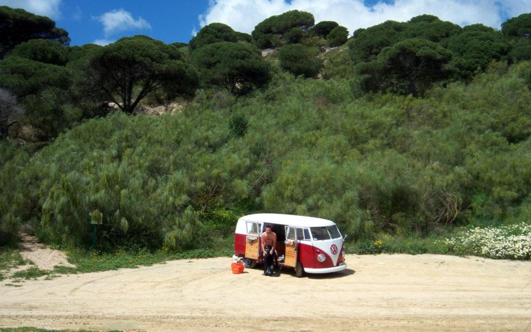 Road trip combi vw en Espagne -Vintage Camper Bordeaux