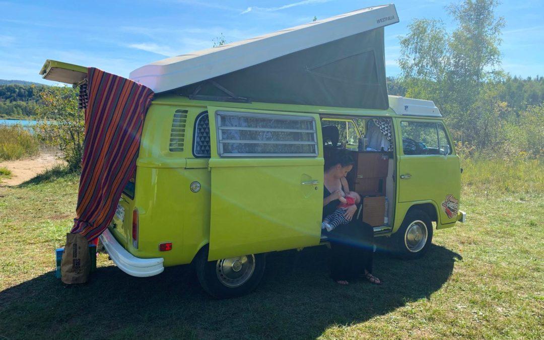 Voyager avec un bébé – Vintage Camper Jura