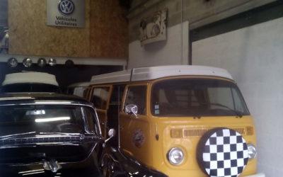 Garage scène – Vintage Camper Bordeaux