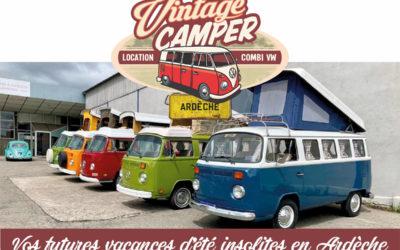 Vos prochaines vacances insolites d'été en Ardèche avec les Vans Volkswagen Vintage Camper