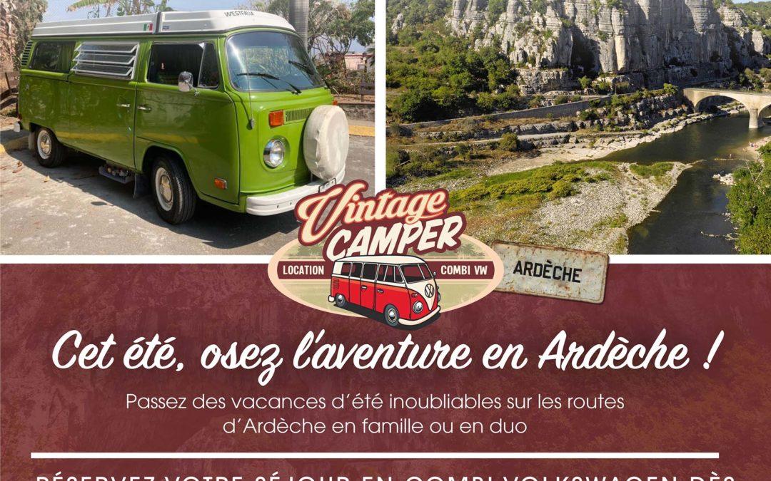 Évadez-vous en Ardèche en réservant un séjour insolite avec nos combi Volkswagen Vintage Camper