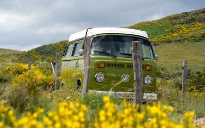 Des vacances en amoureux avec nos combi Volkswagen Vintage Camper Ardèche