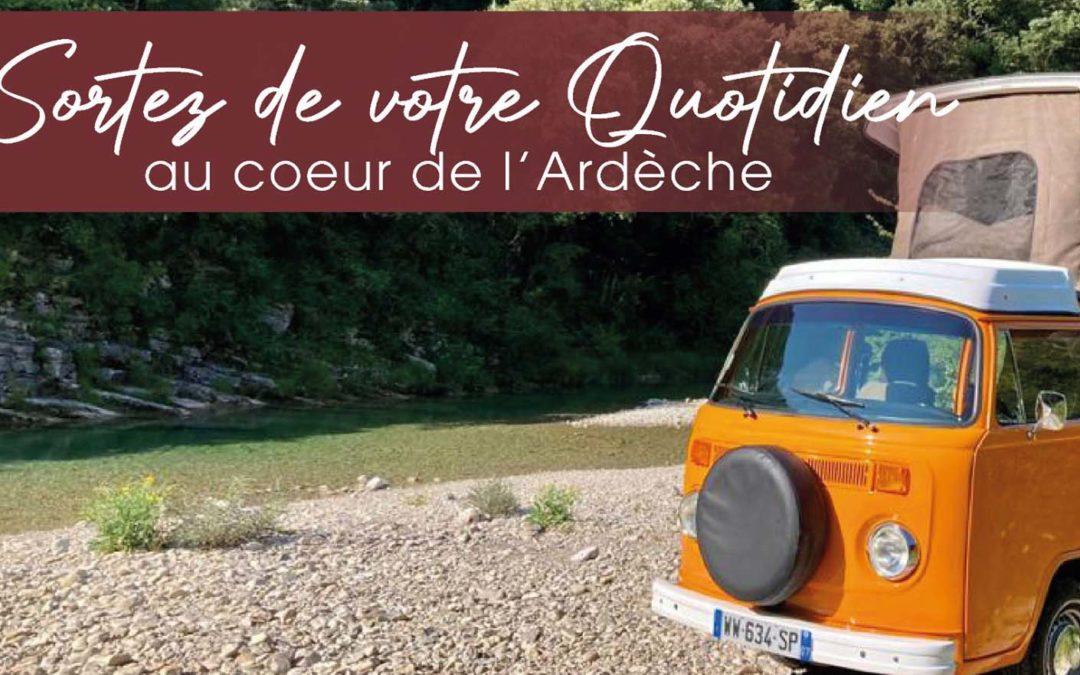 Escapade insolite et romantique en Ardèche avec Vintage Camper