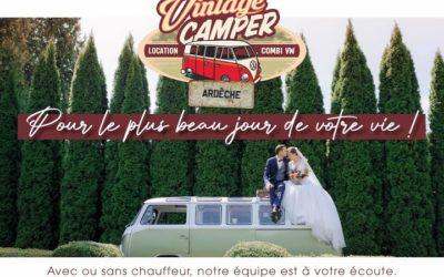 Vintage Camper Ardèche pour votre location de combi Volkswagen durant votre mariage